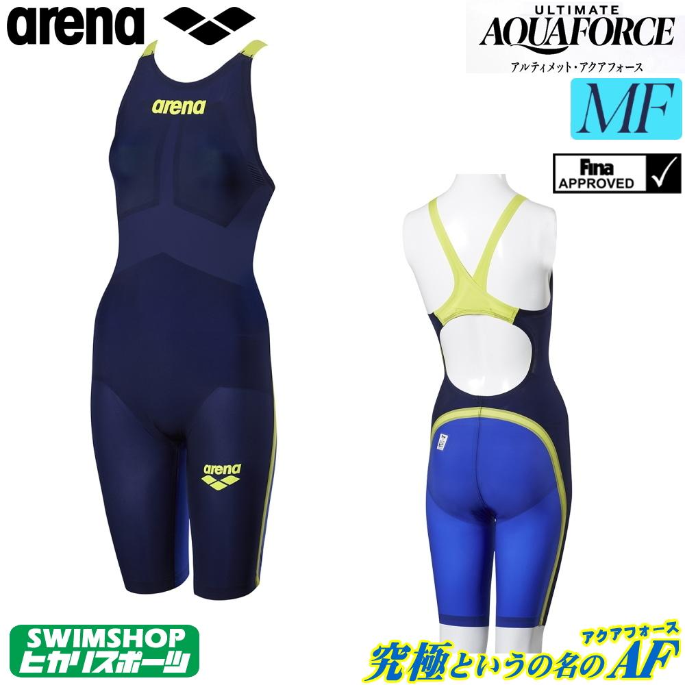 アリーナ 競泳水着 レディース アルティメットアクアフォース ULTIMATE AQUAFORCE MF Fina承認モデル ハーフスパッツフラットクロスバック ARENA オールラウンド 中・長距離 着用ラップ付き トップモデル ARN-9002W