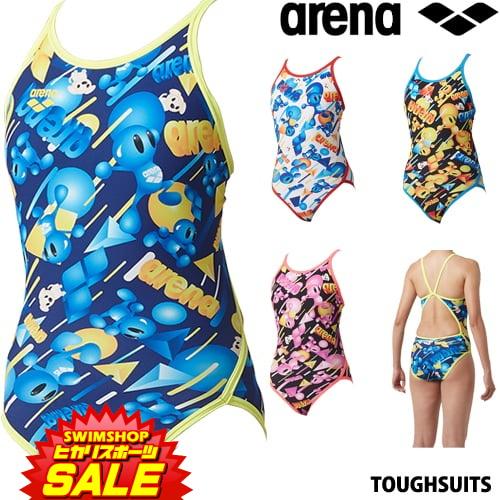 アリーナ ARENA 競泳水着 レディース 練習用水着 スーパーフライバック タフスーツ タフスキンD [アリーナ君] 競泳練習水着 2019年春夏モデル SAR-9111W