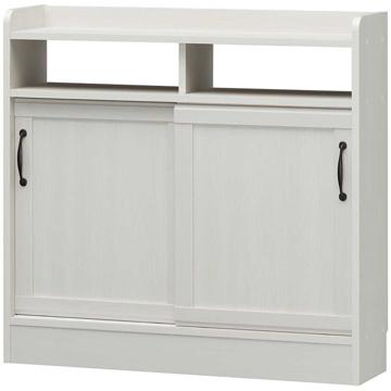 白井産業 ■チェローネ 食器棚 キャビネット オフホワイト CEN-8590SD