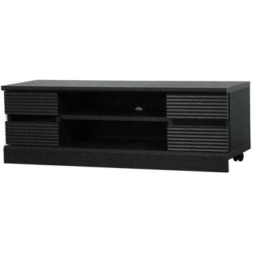 ■ウェーブ テレビ台 ローボード ブラック WAV-3511GBK