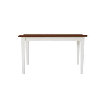 関家具 ■【mam】 ダイニングテーブル クレソン ホワイト/カフェ 75cm
