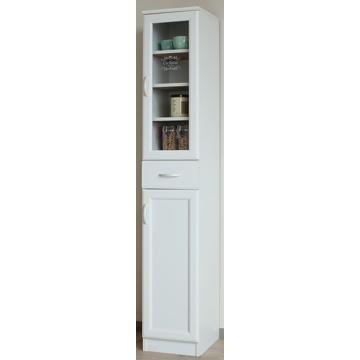 白井産業 ■セシルナ カップボード 食器棚 ホワイト CEC-1830DGH