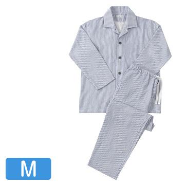 UCHINO 快眠パジャマ マシュマロガーゼ ストライプ メンズパジャマ ダークブルー Mサイズ RPZ18028M-DB