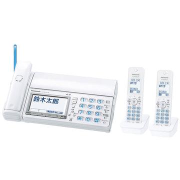 パナソニック デジタルコードレスファクス(子機2台)(ホワイト) KX-PD715DW-W