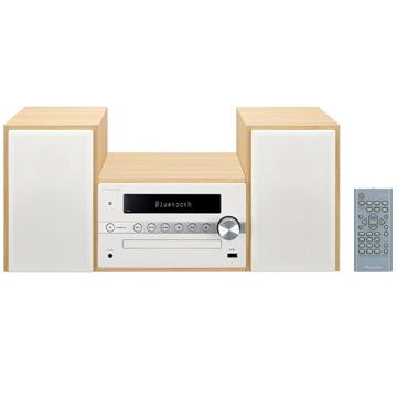 【エントリーで+P5倍(5日20:00-10日1:59まで)】パイオニア Bluetooth対応 CDミニコンポ ホワイト X-CM56W