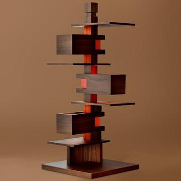 ヤマギワ Frank Lloyd Wright(フランクロイドライト) テーブルスタンド TALIESIN(タリアセン)4 ウォールナット 322S7317