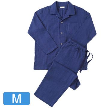 UCHINO 快眠パジャマ マシュマロガーゼ メンズパジャマ ダークブルー Mサイズ RP15680M-DB