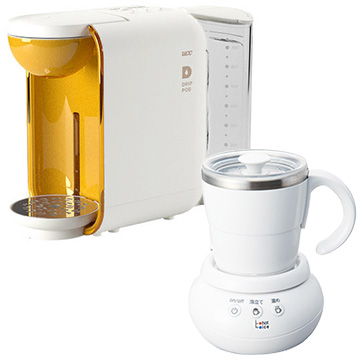 UCC上島珈琲 ドリップポッド ミルクカップフォーマーセット パンナホワイト DP1-MCF30