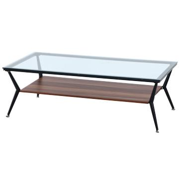 不二貿易 ガラスリビングテーブルクレア120幅DBR 96227