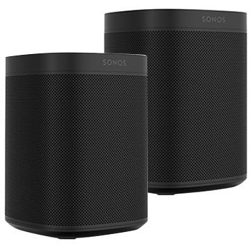Sonos One+One SL 2台セット ブラック