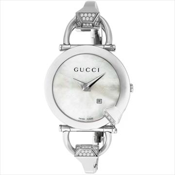 グッチ ■腕時計 キオド ホワイトパール YA122506