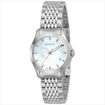 グッチ ■腕時計 Gタイムレス ホワイトパール YA126533