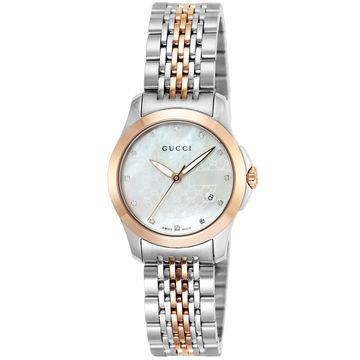 グッチ ■腕時計 Gタイムレス ホワイトパール YA126539