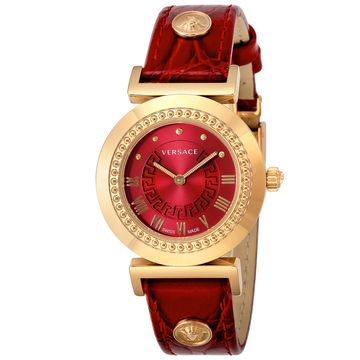 ヴェルサーチ ■腕時計 VANITY レッド P5Q80D800S800