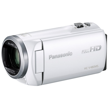 Panasonic デジタルハイビジョンビデオカメラ [ホワイト] HC-V480MS-W