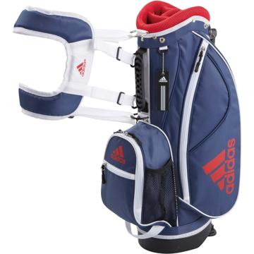 Taylor Made Golf ■Adidas ジュニアスタンドキャディバッグ34 A92265 ネイビー 7型 AWT57