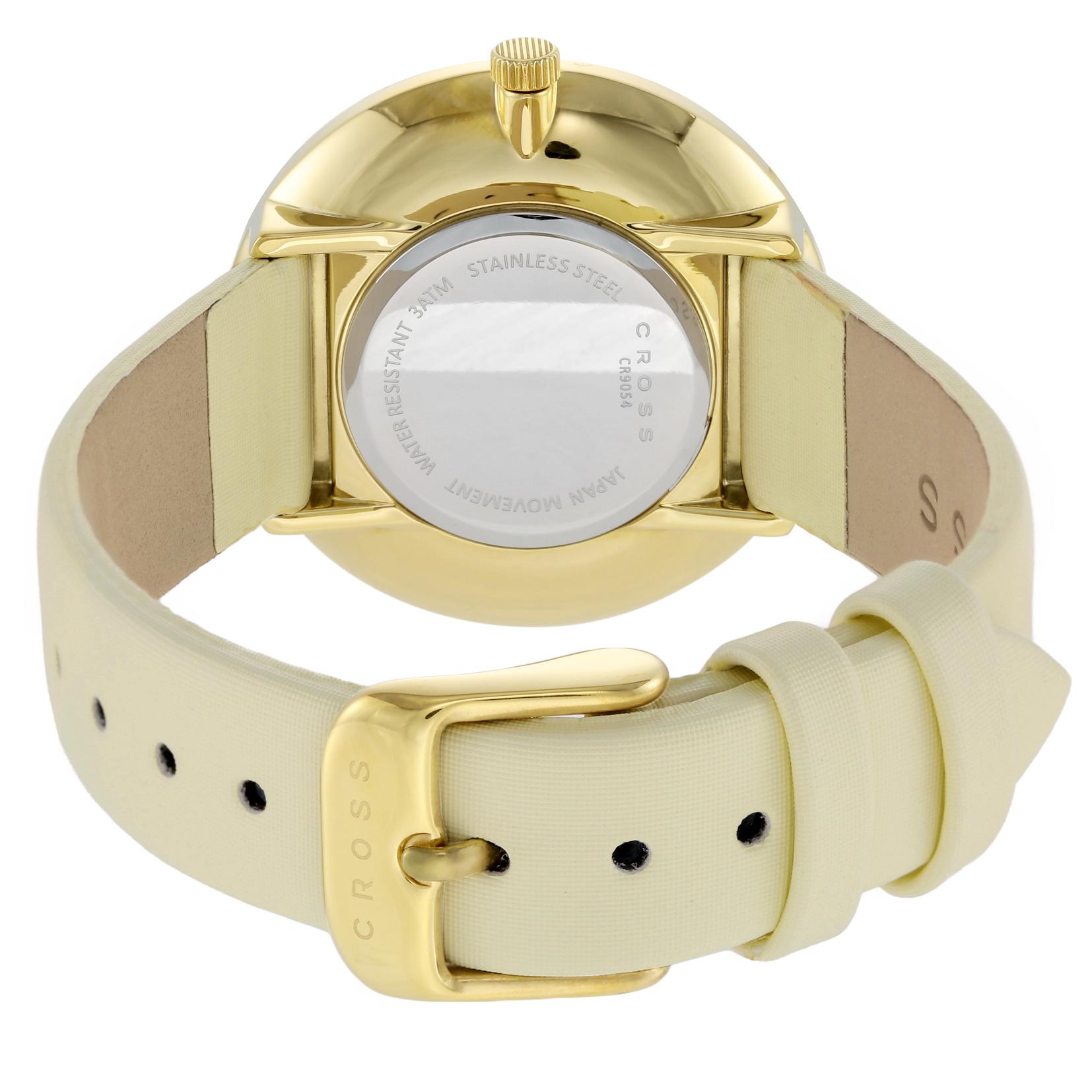 【期間限定 エントリーでP10倍】 CROSS(クロス) ■腕時計 レディース ベージュ CR9054-06