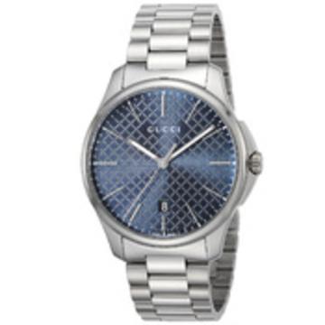 GUCCI(グッチ) ■腕時計 Gタイムレス メンズ ブルー YA126316