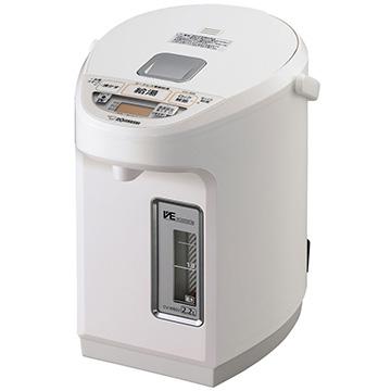 【期間限定 エントリーでP10倍】 象印 VE電気まほうびん 優湯生 2.2L ホワイト CV-WB22-WA