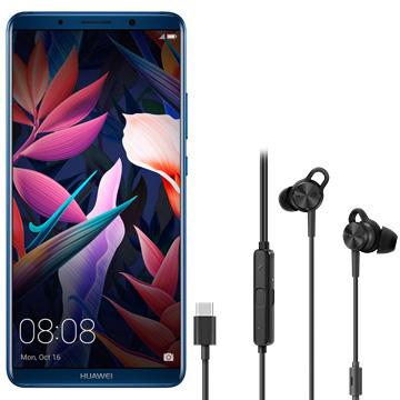 【期間限定 エントリーでP5倍】 Huawei 【購入特典付】Mate10 Pro ミッドナイトブルー+HUAWEIノイズキャンセリングイヤホン