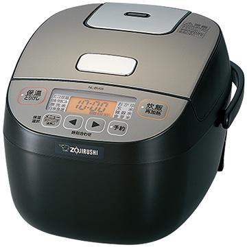 象印 マイコン炊飯器 黒厚釜5mm 3合炊き ブラック NL-BU05-BA