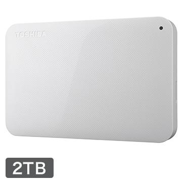 東芝 CANVIO BASICS ポータブルHDD 2TB ホワイト HD-AC20TW
