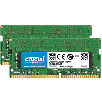 Crucial 32GBキット (16GBx2枚組) DDR4 2666 MT/s (PC4-21300) CL19 DR x8 Unbuffered SODIMM 260pin CT2K16G4SFD8266