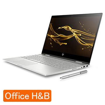HP ENVY x360 15-cn(15.6型/i5-8250U/メモリ 8GB/SSD 256GB+HDD 1TB/Office有) 4JA41PA-AAAB