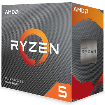 AMD CPU Ryzen 5 3600 クーラー付 (6C12T3.6GHz65W) 100-100000031BOX