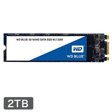 WESTERNDIGITAL ■WD BLUEシリーズ 3DNAND M.2 SSD 2TB WDS200T2B0B