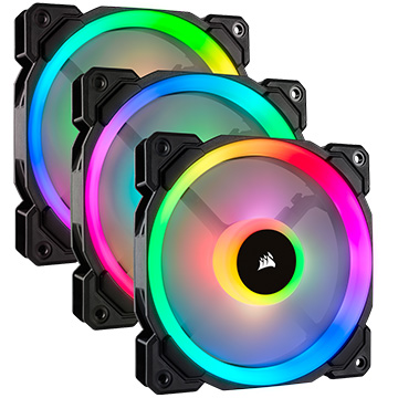 Corsair PCケース LL120 RGB 3Fan Pack with Lighting Node PRO CO-9050072-WW
