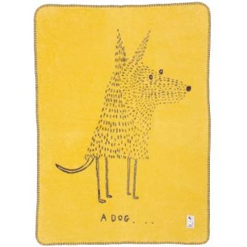 fabulous goose(ファブラスグース) スウェーデン ファブラスグース オーガニックコットンブランケットA DOG (ア・ドッグ) Sサイズ mais/anthrasit WBD1114