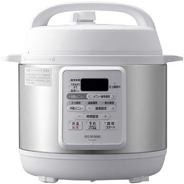送料無料お手入れ要らず アイリスオーヤマ 電気圧力鍋 3.0L PC-EMA3-W ホワイト 信用
