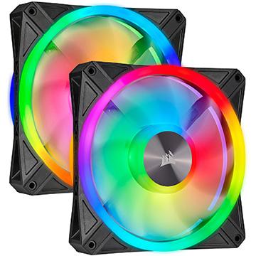Corsair iCUE QL140 RGB 140mm PWM Dual Fan Kit with Lighting Node CORE CO-9050100-WW