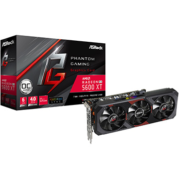 ASRock グラフィックボード RADEON RX 5600 XT Phantom Gaming D3 6G OC RADEON-RX-5600-XT-Phantom-Gaming-D3-6G-OC