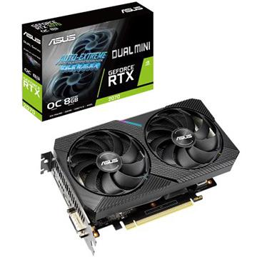 ASUS ■グラフィックカード NVIDIA RTX2070搭載 8GB デュアルファンモデル小型版 DUAL-RTX2070-O8G-MIN