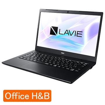 NEC (オフィス付) LAVIE Smart HM Celeron 4GB SSD256GB パールブラック PC-SN18CSADG-D