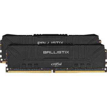 Crucial 内蔵メモリ Ballistix Black 2x16GB (32GB Kit) DDR4 3200MT/s CL16 Unbuffered DIMM 288pin Black BL2K16G32C16U4B