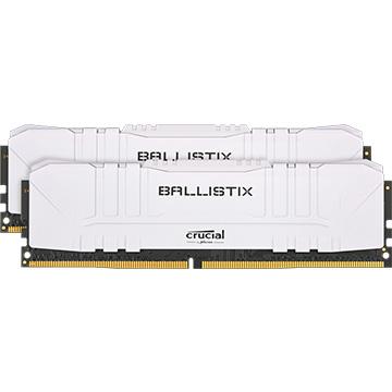 Crucial 内蔵メモリ Ballistix White 2x16GB (32GB Kit) DDR4 3200MT/s CL16 Unbuffered DIMM 288pin White BL2K16G32C16U4W