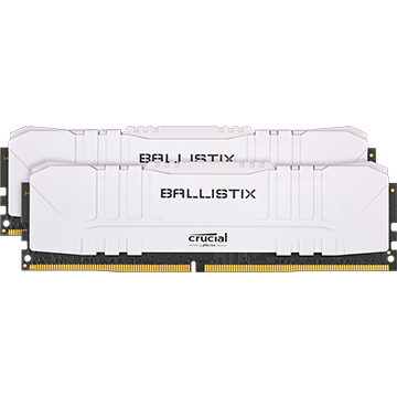 Crucial 内蔵メモリ Ballistix White 2x8GB (16GB Kit) DDR4 3600MT/s CL16 Unbuffered DIMM 288pin White BL2K8G36C16U4W