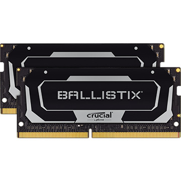 Crucial 内蔵メモリ Ballistix SODIMM 2x32GB (64GB Kit) DDR4 3200MT/s CL16 Unbuffered SODIMM 260pin Black BL2K32G32C16S4B