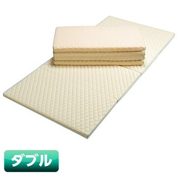 nishikawa SleepComfy 4つ折り敷きふとん レギュラータイプ(ダブルサイズ) 【色:アイボリー】 KCN2057100