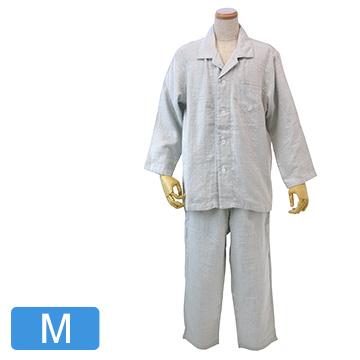 UCHINO 快眠パジャマ マシュマロガーゼ シャンブレー メンズパジャマ ライトグレーM RPZ18023M-LGy