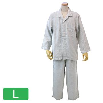 UCHINO 快眠パジャマ マシュマロガーゼ シャンブレー メンズパジャマ ライトグレーLA RPZ18023LA-LGy