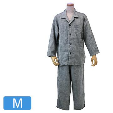 UCHINO 快眠パジャマ マシュマロガーゼ シャンブレー メンズパジャマ ダークグレーM RPZ18023M-DGy