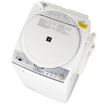 シャープ たて型洗濯乾燥機(洗濯8kg 乾燥4.5kg) ホワイト系【大型商品(設置工事可)】 ES-TX8C-W