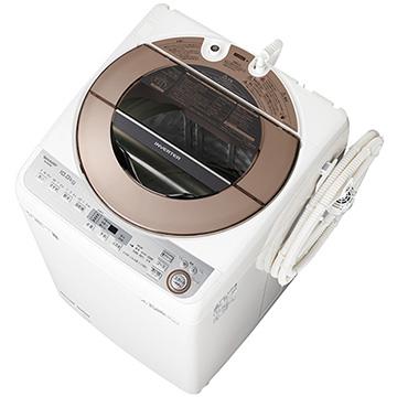 【期間限定 エントリーでP5倍】 シャープ たて型洗濯機(10kg) ブラウン系【大型商品(設置工事可)】 ES-GV10C-T