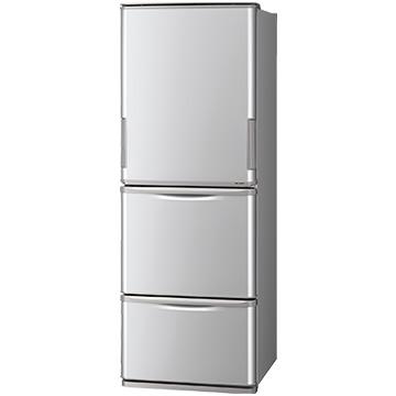 シャープ 【どっちもドア】3ドア冷蔵庫(350L)シルバー【大型商品(設置工事可)】 SJ-W351E-S