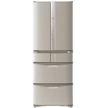 日立 6ドア冷蔵庫 505L うるおいチルド フレンチドア ソフトブラウン【大型商品(設置工事可)】 R-F51HG-T