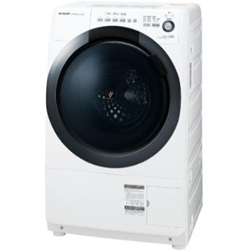 SHARP ドラム式洗濯乾燥機 ホワイト系 左開き【大型商品(設置工事可)】 ES-S7D-WL